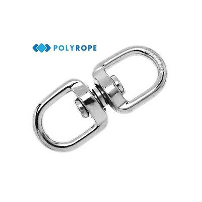 Swivel Rolling Anti Twisted Chain Ring Shackle 4.5mm 6mm For Yacht Boat Rope