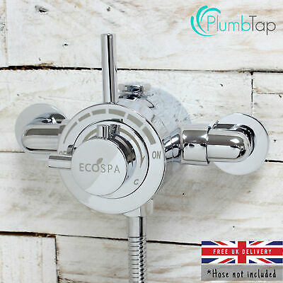 Exposed Modern Concentric Thermostatic Shower Mixer Valve Chrome | 1 Outlet