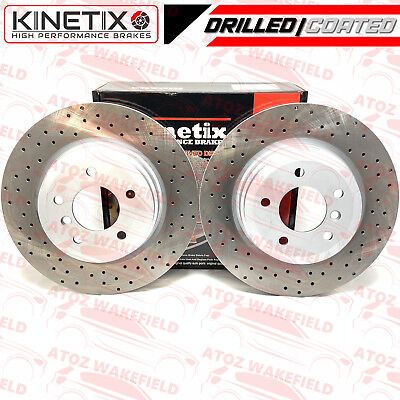 Front Kinetix Drilled Brake Discs TX092 348mm Bmw E91 330i 335i 325d 330d 335d