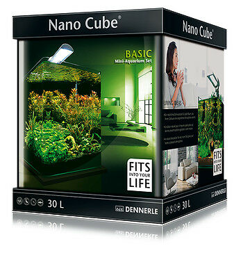 Dennerle Nano Cube Aquarium Tank Complete Set - 30L with Light and Filter