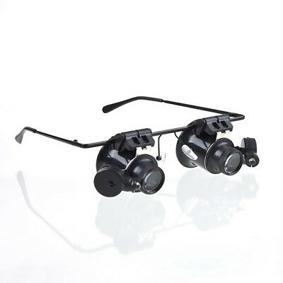 20X Magnifier Magnifying Glasses Loupe Lens Jeweler Watch Repair LED Light E3