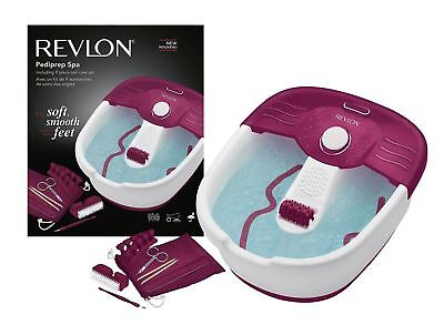 Revlon RVFB7021PUK Pediprep Foot Spa with 9 Pieces Nail Care Set Brand New