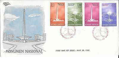 Indonesia 1962 National Monument Stamps on First Day Cover May 20