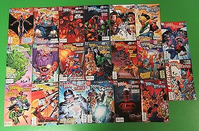 Teen Titans #8 9-26 The Legion Special Run Lot 20 Comics Geoff Johns Robin