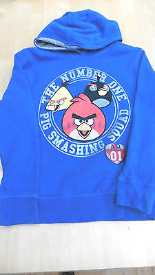 Next blue Angry Birds sweatshirt hoodie for age 9 years