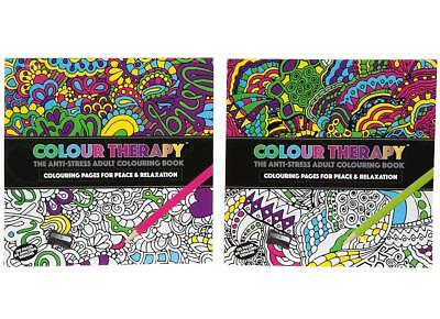 Adult Art Therapy Relaxation Colouring Book 120 Pages