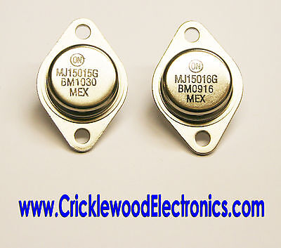 MJ15015 and/or MJ15016 Genuine Original ON Semiconductor (Used to be Motorola)