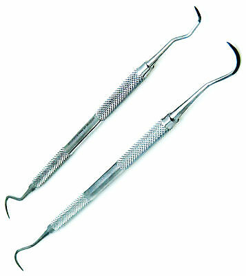 2 Pcs Sickle H6/H7 & Jaquette Scaler U15/30 Dental Scaler Explorer Instrument