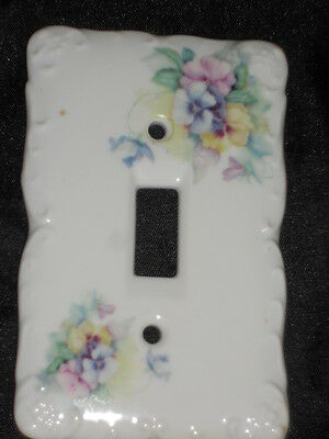 "Ceramic Switch Plate 3 1/4"" X 5"" With Floral Nice Lot 22"