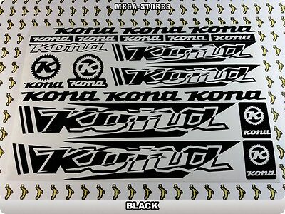 """KONA Stickers Decals Bicycles Bikes BMX MTB Frames Cycles /""""DIFFERENT COLORS/"""" 57R"""