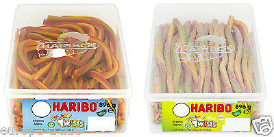 Haribo Sweets Rainbow Twists & Sour Twists Candy Kids Party Birthday Sealed Tub