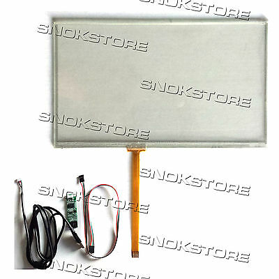 "7"" inch 4 WIRE RESISTIVE TOUCH PANEL + USB PORT CONTROLLER BOARD KIT DIGITIZER"