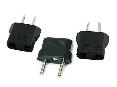 3/pk EU/AU/AS/AF/US 2 prong Power outlet converter Plug World Travel Adapter Kit