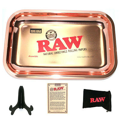 Rose Gold Plated Raw Rolling Papers Tray *limited Edition* Canada Shipped