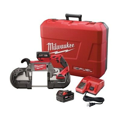Milwaukee 2729-22 M18 18V FUEL Deep Cut Band Saw Kit with 2 Batteries