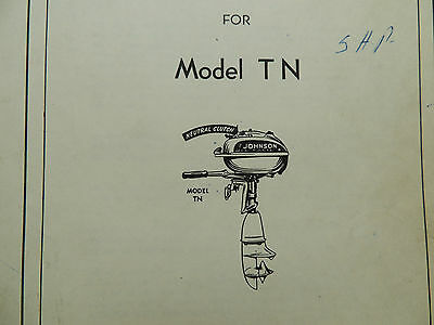 Johnson Sea Horse Parts Catalog Models TN