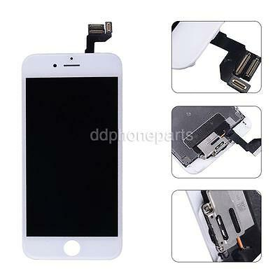 """White LCD Screen Touch Digitizer Front Camera Bezel Frame For iPhone 6S 4.7"""" USA"""