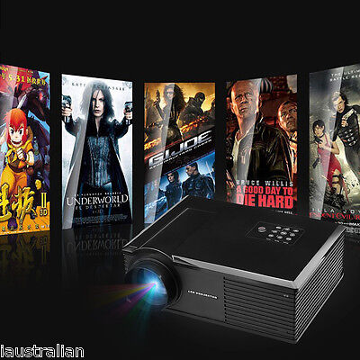 Excelvan 3200LM HD Home Theater Multimedia  LED Projector 720p 1280*800