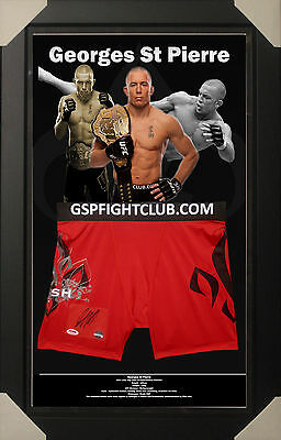 Georges St Pierre Gsp Ufc Signed Framed Trunks Psa Dna Authenticated # S6566