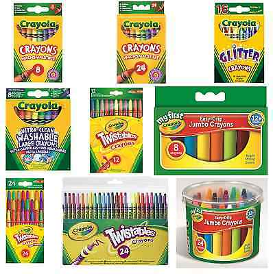 Crayola Branded Wax Crayons Kid School Stationery Colouring Tools Colour Packets