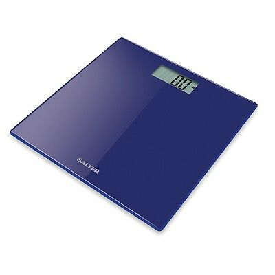 Salter Digital Bathroom Scale -Ultra Slim Glass Electronic Weight Scales Blue