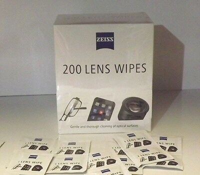 Zeiss Pre Moist Lens Wipes Cleans Lenses Individual Sachets Glasses Camera