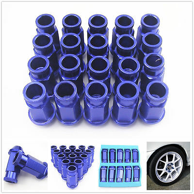 Aluminium Wheel Nuts M12X1.5 19 mm socket Universal Blue