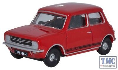 76MINGT003 Oxford Diecast Mini 1275GT Flame Red 1/76 Scale OO Gauge