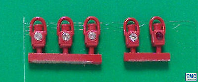 SPDA2-5 Springside GWR Head & Tail Lamps White 5pk