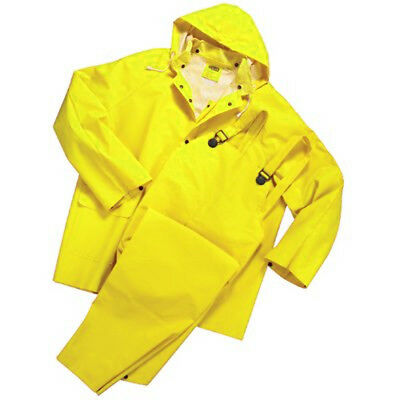 Mutual Industries 1450505 0.35 mm PVC/Polyester 3 Piece Rain Suit, Size 2X-Large