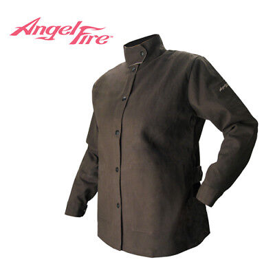 Revco BW9C-M Medium BSX AngelFire Women's Flame-Resistant Welding Jacket - Choco