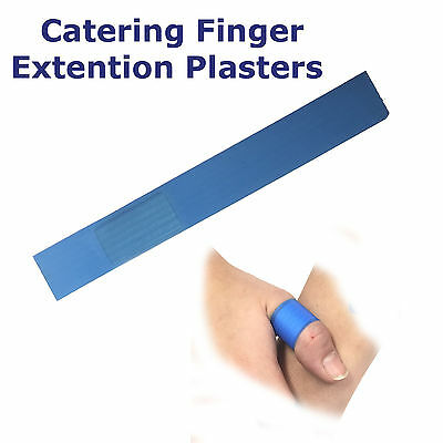 Qualicare Premium Catering Blue Cut Firstaid Finger Extention Plasters Dressings
