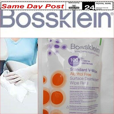 Bossklein V-Wipes non-alcohol surface disinfectant Kills Bacteria Sterile Clean