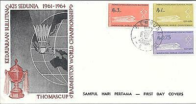 Indonesia 1961 Thomas Cup Badminton World Championship First Day Cover