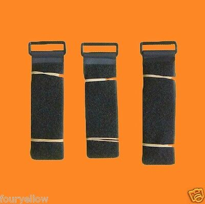 3 SANGLE VELCRO SCRATCH GRIP NOIRE 50mm x 1m sangle straps velcros