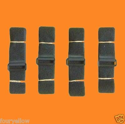 4 SANGLES VELCRO SCRATCH GRIP NOIRE 50mm x 1,80m sangle straps velcros