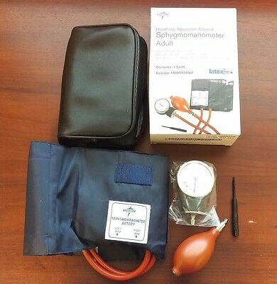 Medline Sphygmomanometer Adult Handheld, Adjustable Aneroid with Case #MDS9380LF