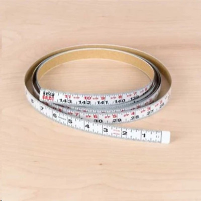 "Delta 79-066 12' x 3/4"" Biesemeyer Left English Adhesive-Backed Measuring Tape"