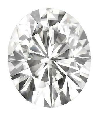 Oval Cut Forever Classic Charles & Colvard Moissanite  70 Facets, near colorless