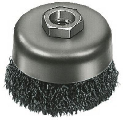 """Milwaukee 48-52-5060 3"""" Carbon Steel Crimped Wire Cup Brush with 0.012 Gauge Wir"""