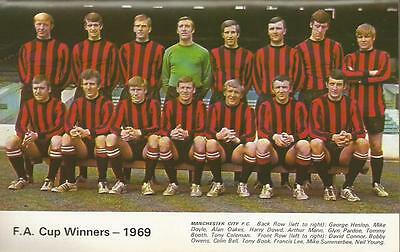 Manchester City 1968-69 Fa Cup Winners Team Photo Print.