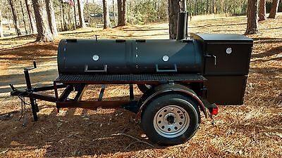 New trailer smoker/grill with double removable racks