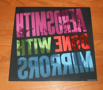 Aerosmith Done With Mirrors Poster Flat Square 1985 Promo 12x12