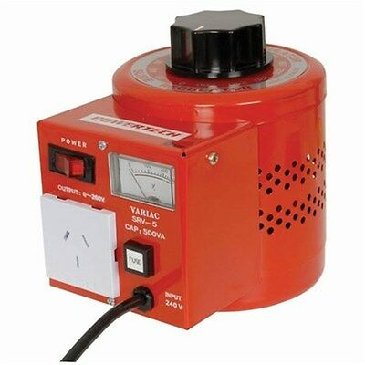 Powertech Variable Laboratory Autotransformer 0-260V AC 500 VA 2 Amp
