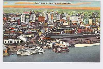 Vintage Postcard Louisiana New Orleans Aerial View Of City At Sunset