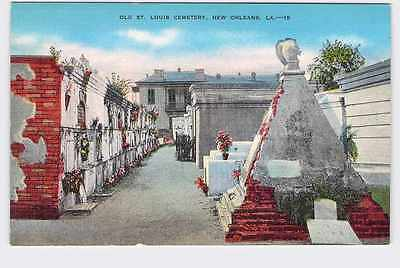 Vintage Postcard Louisiana New Orleans Old St. Louis Cemetery