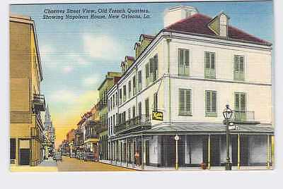 Vintage Postcard Louisiana New Orleans Chartres St. View Old French Quarters Sho