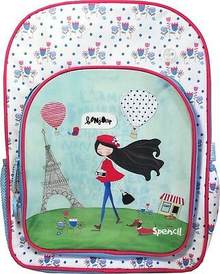 NEW Spencil Paris Girl Backpack Rucksack School Bag