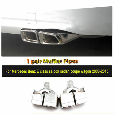 24cm Stainless Steel Rear Muffler Exhaust End Tip Fit for Mercedes Benz W212 AMG