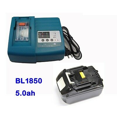Makita DC18RA DC18RC Charger and 18V 5.0Ah Lithium Ion Battery BL1850 LXT NEW
